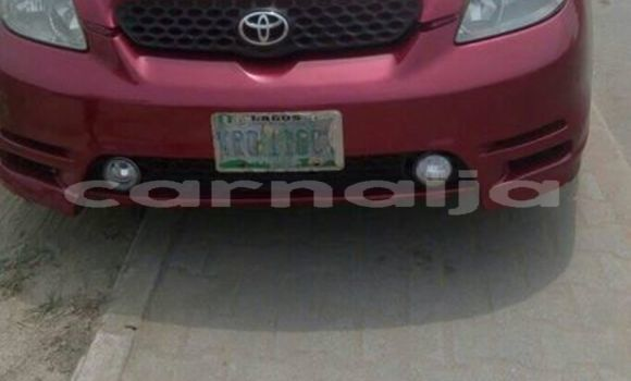 Buy Used Toyota Matrix Red Car in Port Harcourt in Rivers State